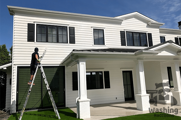 Residential house washing